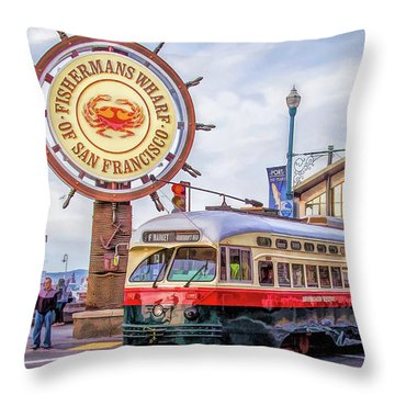San Francisco Fisherman's Wharf Throw Pillow