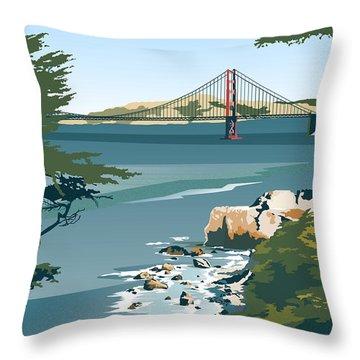 San Francisco Lands End Throw Pillow