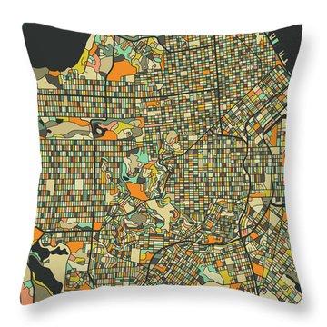 San Francisco Map 2 Throw Pillow