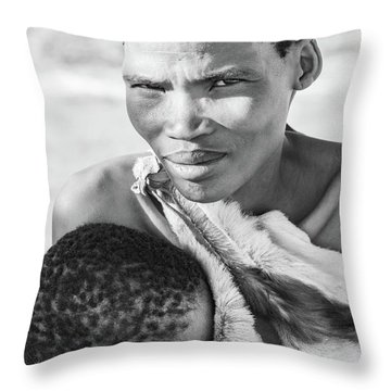 San Mother And Child Throw Pillow