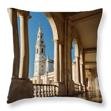 Sanctuary Of Fatima, Portugal Throw Pillow
