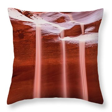 Throw Pillow featuring the photograph Sand Of Time by Dheeraj Mutha