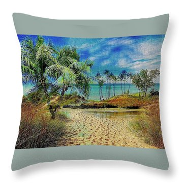 Sand To The Shore Montage Throw Pillow