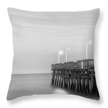 Throw Pillow featuring the photograph Sandbridge Minimalist by Russell Pugh