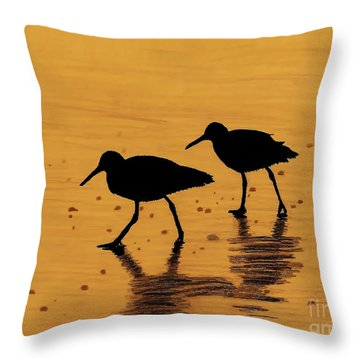 Sandpipers - At - Sunrise Throw Pillow