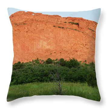 Sandstone Rock Formation Called The Kissing Camels In Colorado Throw Pillow