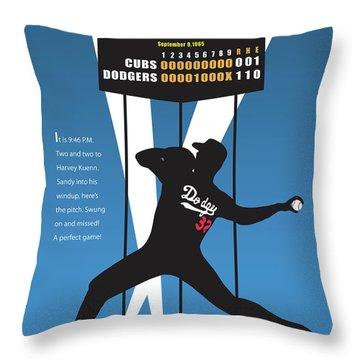 Sandy Koufax Perfect Game Throw Pillow