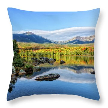 Throw Pillow featuring the photograph Sandy Stream Pond Baxter Sp Maine by Michael Hubley