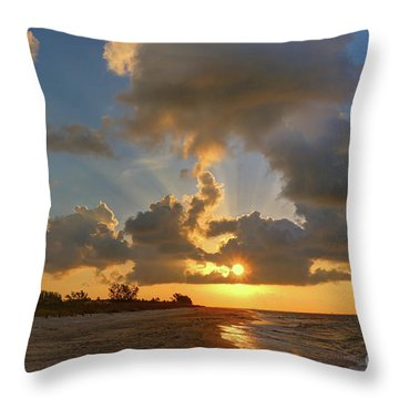 Sanibel Island Sunrays Throw Pillow