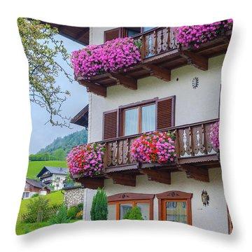 Sankt Wolfgang House Throw Pillow