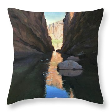 Santa Elena Canyon, Big Bend Throw Pillow