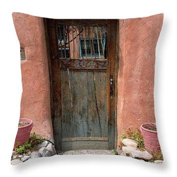 Santa Fe Door Throw Pillow