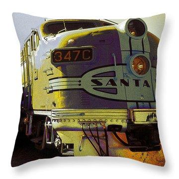 Santa Fe Railroad 347c - Digital Artwork Throw Pillow