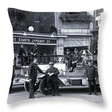 Santa Monica Firemen 1920 Throw Pillow