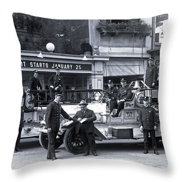 Santa Monica Firemen 1920 Throw Pillow