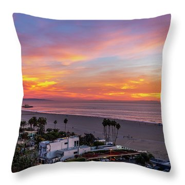 Santa Monica Pier Sunset - 11.1.18  Throw Pillow