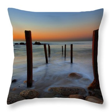 Santa Monica Sunrise Throw Pillow
