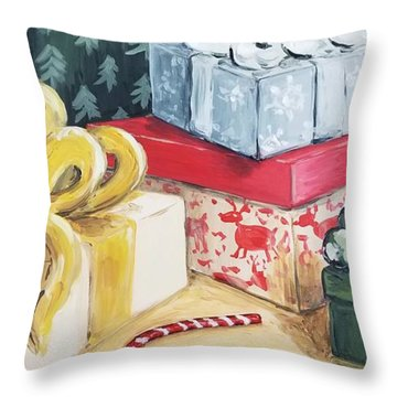 Santa Was Here Throw Pillow