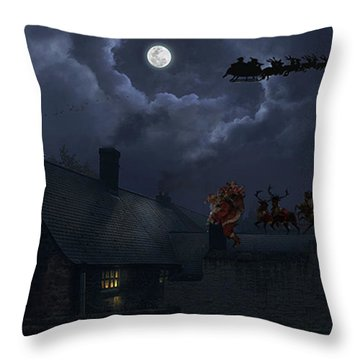 Santas Throw Pillow