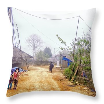 Sapa Sisters, Vietnam Throw Pillow