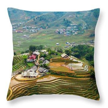 Sapa, Vietnam Landscape Throw Pillow