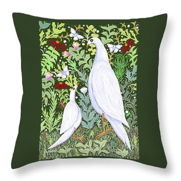 Sapientes Pacis Birds Throw Pillow