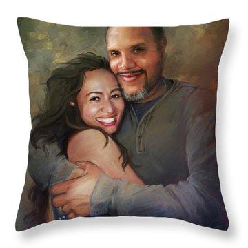 Sara And Ahmed Throw Pillow