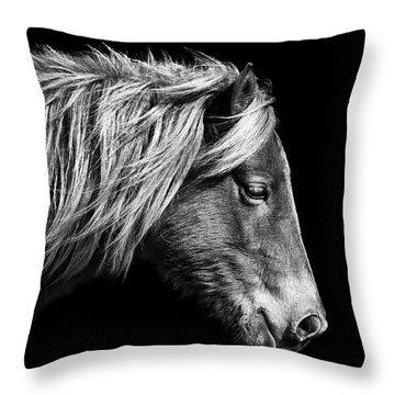 Sarah's Sweat Tea Portrait In Black And White Throw Pillow