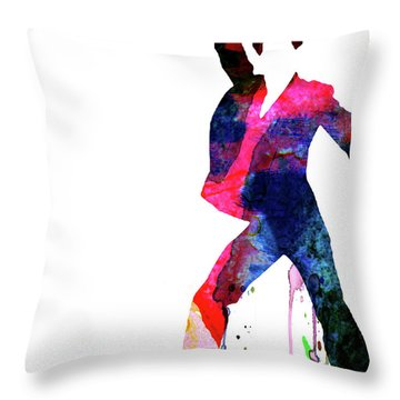 Saturday Night Fever Watercolor Throw Pillow