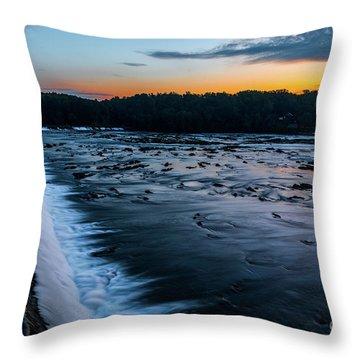Savannah Rapids Sunrise - Augusta Ga Throw Pillow
