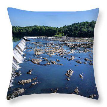 Savannah River Rapids - Augusta Ga 2 Throw Pillow