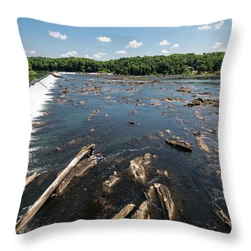 Savannah River Rapids - Augusta Ga Throw Pillow