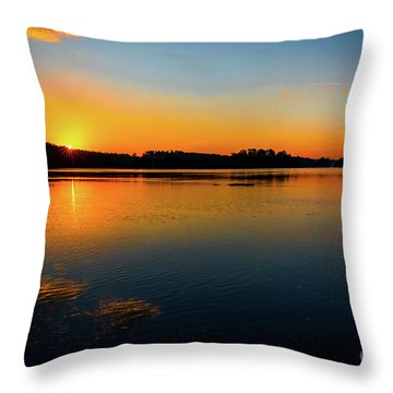 Savannah River Sunrise - Augusta Ga Throw Pillow