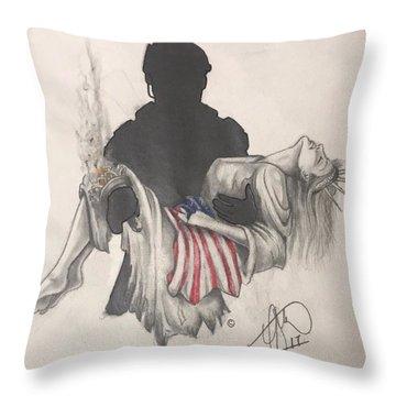 Saving Liberty Throw Pillow