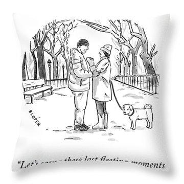 Savor The Moment Throw Pillow