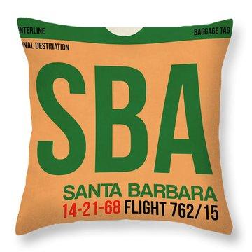 Sba Santa Barbara Luggage Tag I Throw Pillow