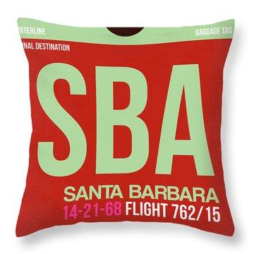 Sba Santa Barbara Luggage Tag II Throw Pillow