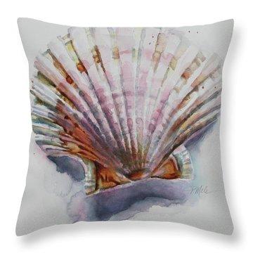 Scallop Seashell Throw Pillow
