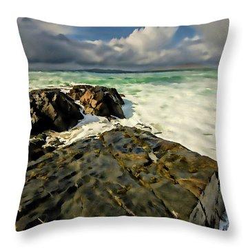 Scarista Digital Painting Throw Pillow