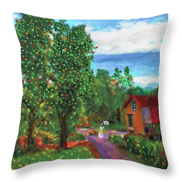 Scene From Giverny Throw Pillow
