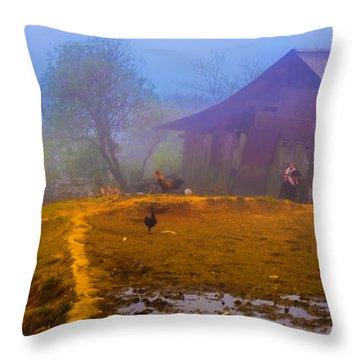 Scene On A Hill - Sapa, Vietnam  Throw Pillow