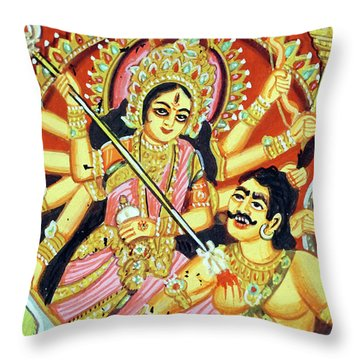 Scenes From The Ramayana Throw Pillow