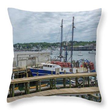 Scenic Harbor Throw Pillow