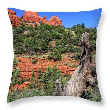 Schnebly Hill View, Sedona Throw Pillow