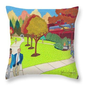 School Ties Throw Pillow
