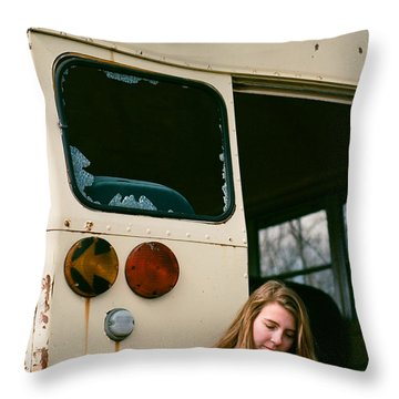 Throw Pillow featuring the photograph School's Out by Carl Young