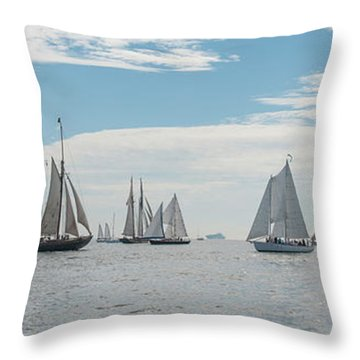 Throw Pillow featuring the photograph Schooners On The Chesapeake Bay by Mark Duehmig