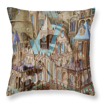 Science City Throw Pillow
