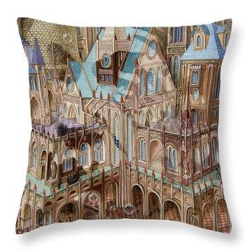 Science City Throw Pillow