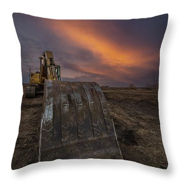 Throw Pillow featuring the photograph Scoop by Aaron J Groen